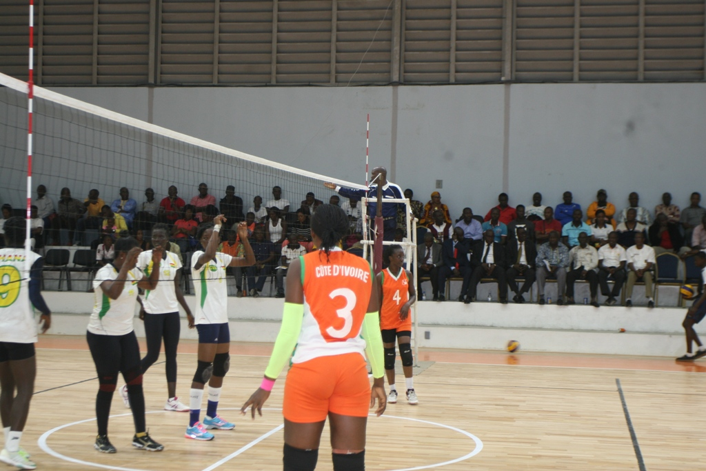 The Black Queens volleyball team defeat hosts in the 2018 FIVB Women World Championship qualifying tournament