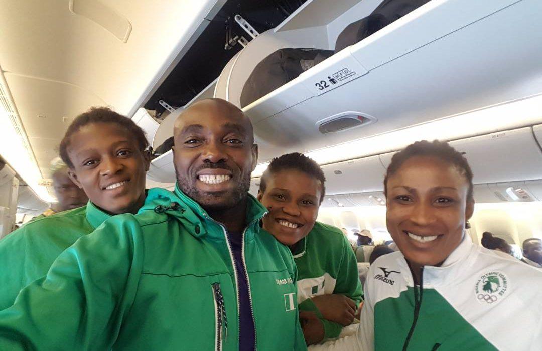4 Nigerian Wrestlers enroute Paris for World Championship
