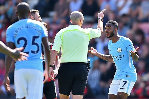 Bournemouth 1-2 Manchester City: Sterling's sending off leaves Guardiola fuming
