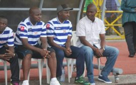 Sunshine Stars coach, Udi thinking points, not relegation