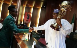President Buhari 'celebrates' Afrobasket Women Champions with N12.5m cash