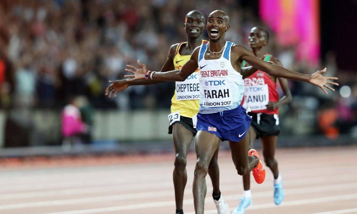 Mo Farah wins 10,000m gold at the World Championships in London