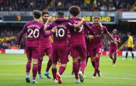 Aguero scores hat-trick as Man City hammer Watford