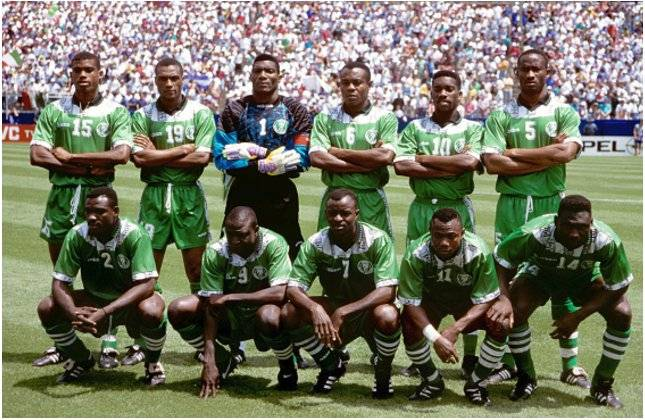 Image result for super eagles 1994 squad what nigeria is famous for
