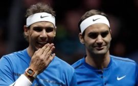 Federer and Nadal team up in doubles