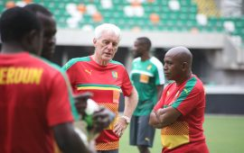 Cameroon coach Hugo Broos refuses to quit after dismissal