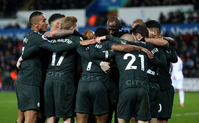 Premier League: Record breaking City thrash Swansea; Liverpool, Arsenal drop points