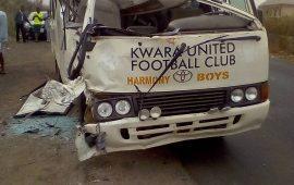 NPFL: Three injured in Kwara United's auto crash