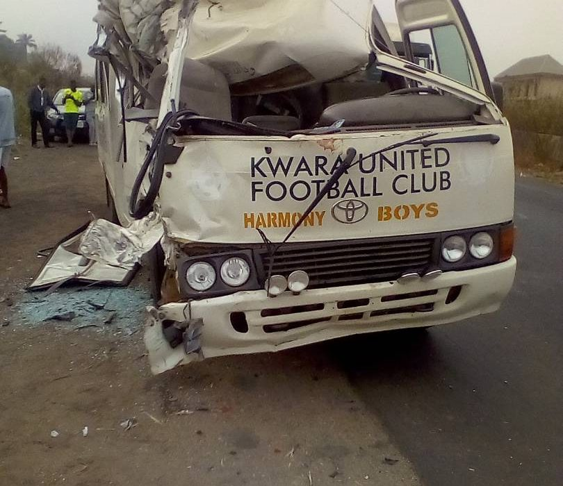 NPFL: Three injured in Kwara United's auto crash