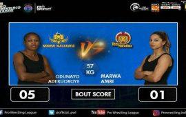 "Pro Wrestling League: Adekuoroye ""man of the match"" Day 9"