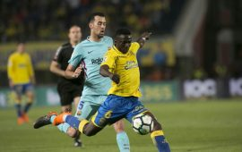 La Liga: Etebo stars as Las Palmas hold Barcelona