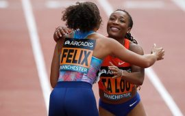 Ivory Coast's Ta Lou tops 150m race in Manchester