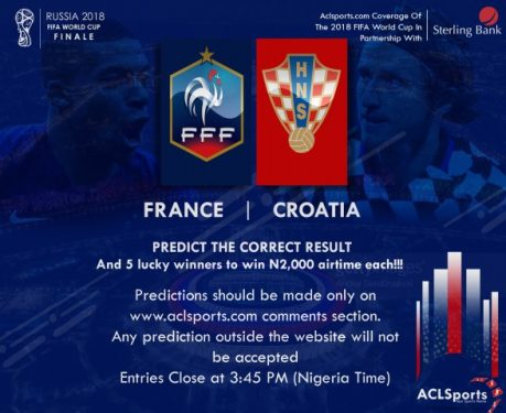 2018 World Cup Final: Predict and Win Airtime | ACLSports