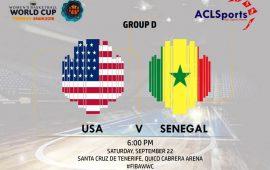 FIBAWWC 2018 Star Game: USA vs Senegal Teranga Lionesses