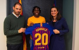 Super Falcon Asisat Oshoala joins Barcelona