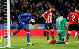 PL: Ndidi's goal not enough against 10-man Southampton
