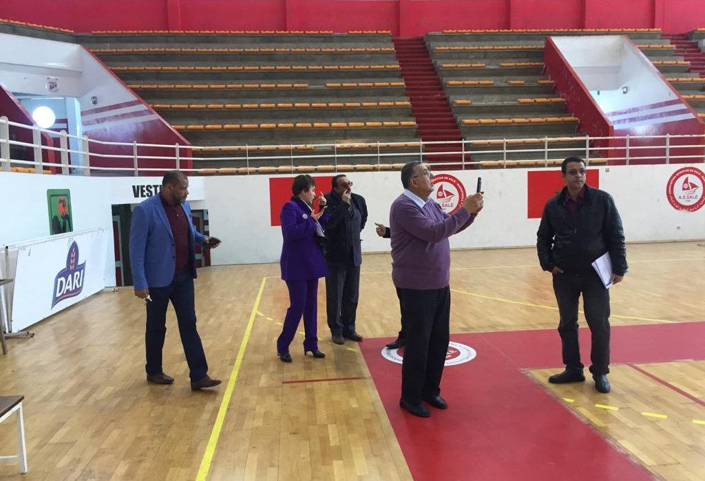 CAVB President inspects volleyball facilities for 2019 All Africa games