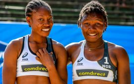 Team Nigeria record defeat in World Beach Volleyball opener