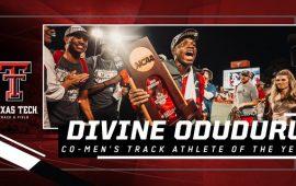 USTFCCCA honour Oduduru as 2019 Co-Men's Track Athlete