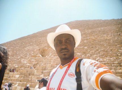 Fisayo Dairo at Giza Pyramids