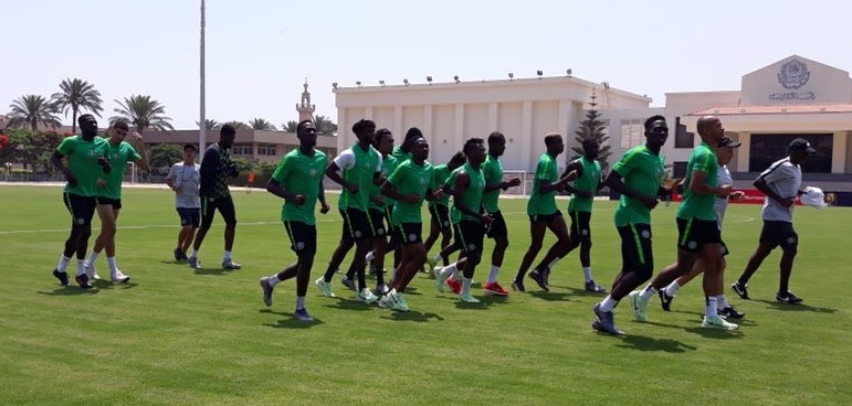 AFCON2019: Eagles in closed doors training for Cameroon